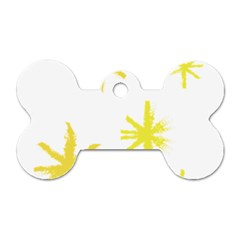 Line Painting Yellow Star Dog Tag Bone (two Sides) by Mariart