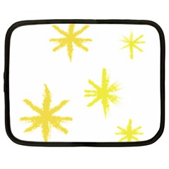 Line Painting Yellow Star Netbook Case (large) by Mariart