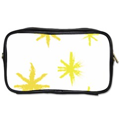 Line Painting Yellow Star Toiletries Bags 2 Side by Mariart