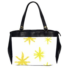 Line Painting Yellow Star Office Handbags (2 Sides)  by Mariart
