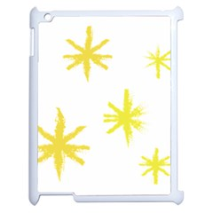 Line Painting Yellow Star Apple Ipad 2 Case (white) by Mariart
