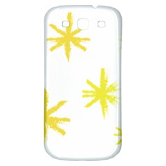Line Painting Yellow Star Samsung Galaxy S3 S Iii Classic Hardshell Back Case by Mariart