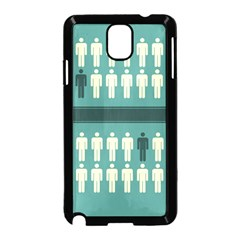 Man Peoplr Line Samsung Galaxy Note 3 Neo Hardshell Case (black) by Mariart