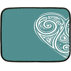 Line Wave Chevron Star Blue Love Heart Sea Beach Double Sided Fleece Blanket (mini)
