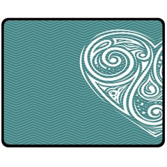 Line Wave Chevron Star Blue Love Heart Sea Beach Fleece Blanket (medium)