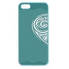 Line Wave Chevron Star Blue Love Heart Sea Beach Apple Seamless Iphone 5 Case (color) by Mariart