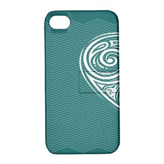 Line Wave Chevron Star Blue Love Heart Sea Beach Apple Iphone 4/4s Hardshell Case With Stand by Mariart