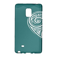 Line Wave Chevron Star Blue Love Heart Sea Beach Galaxy Note Edge by Mariart