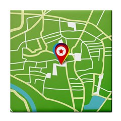 Map Street Star Location Tile Coasters by Mariart