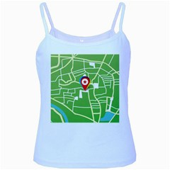 Map Street Star Location Baby Blue Spaghetti Tank by Mariart