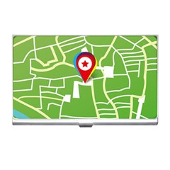 Map Street Star Location Business Card Holders by Mariart