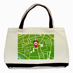 Map Street Star Location Basic Tote Bag by Mariart