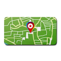 Map Street Star Location Medium Bar Mats by Mariart