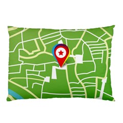 Map Street Star Location Pillow Case by Mariart