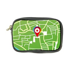 Map Street Star Location Coin Purse by Mariart