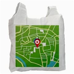 Map Street Star Location Recycle Bag (one Side) by Mariart