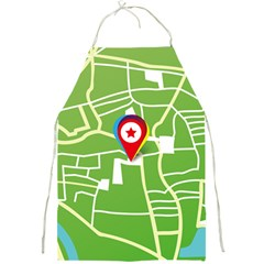 Map Street Star Location Full Print Aprons by Mariart
