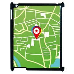 Map Street Star Location Apple Ipad 2 Case (black)