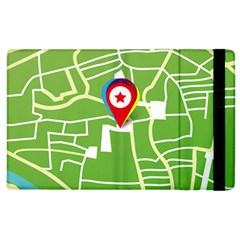 Map Street Star Location Apple Ipad 2 Flip Case by Mariart