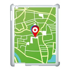 Map Street Star Location Apple Ipad 3/4 Case (white) by Mariart