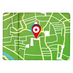 Map Street Star Location Samsung Galaxy Tab 10 1  P7500 Flip Case by Mariart