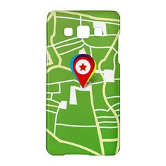 Map Street Star Location Samsung Galaxy A5 Hardshell Case  by Mariart
