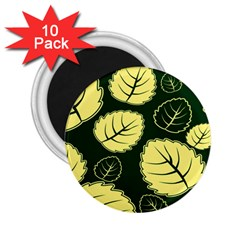 Leaf Green Yellow 2 25  Magnets (10 Pack)