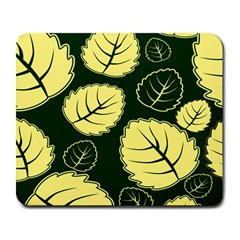Leaf Green Yellow Large Mousepads by Mariart