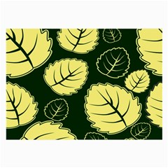 Leaf Green Yellow Large Glasses Cloth (2 Side) by Mariart