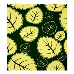 Leaf Green Yellow Shower Curtain 66  X 72  (large)  by Mariart