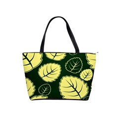 Leaf Green Yellow Shoulder Handbags by Mariart