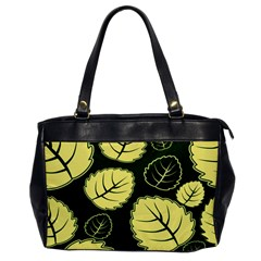 Leaf Green Yellow Office Handbags by Mariart