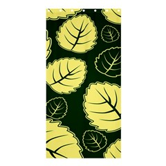 Leaf Green Yellow Shower Curtain 36  X 72  (stall)  by Mariart