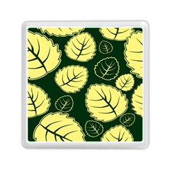 Leaf Green Yellow Memory Card Reader (square)  by Mariart