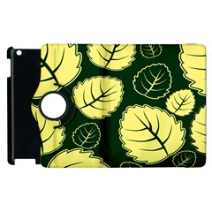 Leaf Green Yellow Apple Ipad 3/4 Flip 360 Case by Mariart