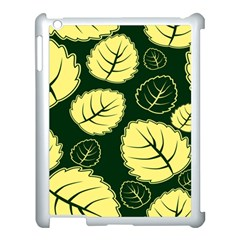 Leaf Green Yellow Apple Ipad 3/4 Case (white) by Mariart