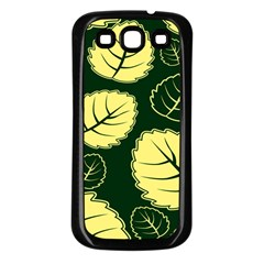 Leaf Green Yellow Samsung Galaxy S3 Back Case (black) by Mariart