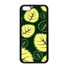 Leaf Green Yellow Apple Iphone 5c Seamless Case (black) by Mariart