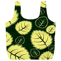 Leaf Green Yellow Full Print Recycle Bags (l)  by Mariart