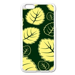 Leaf Green Yellow Apple Iphone 6 Plus/6s Plus Enamel White Case by Mariart