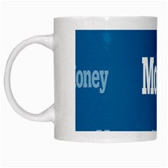 Money White Blue Color White Mugs by Mariart