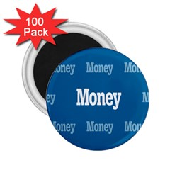 Money White Blue Color 2 25  Magnets (100 Pack)  by Mariart