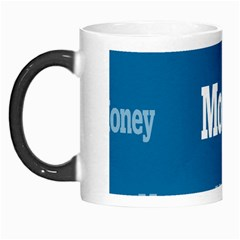 Money White Blue Color Morph Mugs by Mariart