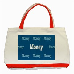 Money White Blue Color Classic Tote Bag (red) by Mariart