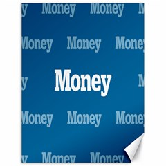 Money White Blue Color Canvas 18  X 24   by Mariart