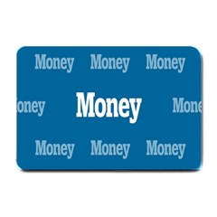 Money White Blue Color Small Doormat  by Mariart