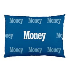 Money White Blue Color Pillow Case by Mariart