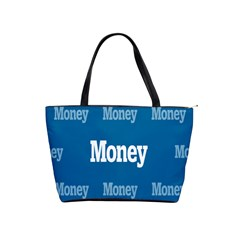 Money White Blue Color Shoulder Handbags by Mariart