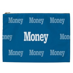 Money White Blue Color Cosmetic Bag (xxl)  by Mariart