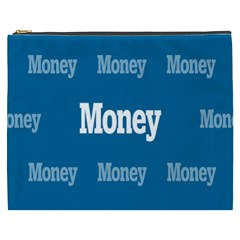 Money White Blue Color Cosmetic Bag (xxxl)  by Mariart